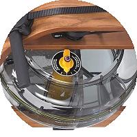 Инновационный контейнер для воды с регулятором нагрузки у гребного тренажера Viking
